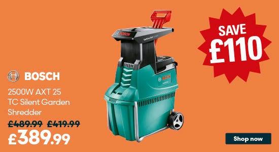 Save on Bosch 2500W AXT 25 TC Silent Garden Shredder