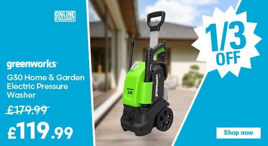Save £80 on Greenworks G30 Home & Garden Electric Pressure Washer