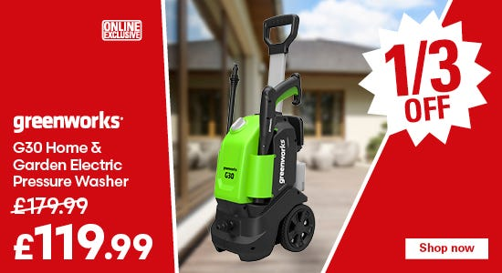 Save 1/3 on the Greenworks Pressure Washer