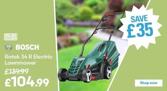 Save on Bosch Rotak 34 R Electric Lawnmower