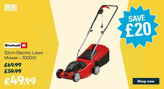 Save £20 on Einhell 32cm Electric Lawn Mower