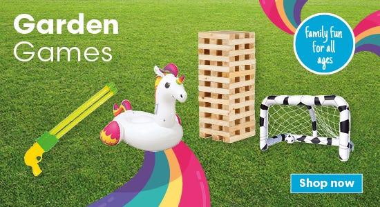 Shop fun family garden games now!