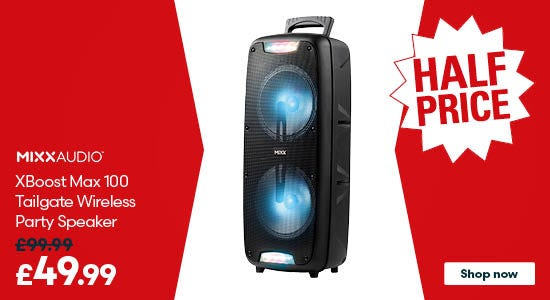 Save on the Mixx XBoost Max 100 Tailgate Wireless Party Speaker