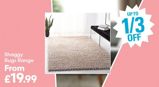 Save up to a third on shaggy rugs