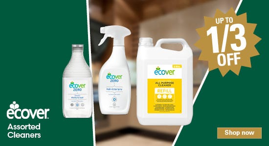 Save up to a third on ecover cleaning products!