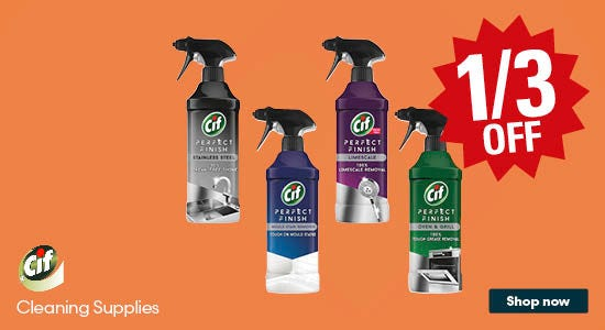 Save a third on CIF cleaning supplies