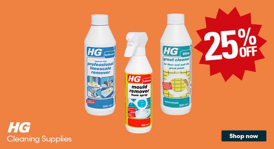 Save 25% on HG Cleaning Supplies