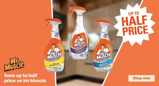 Save up to half price on mr muscle!