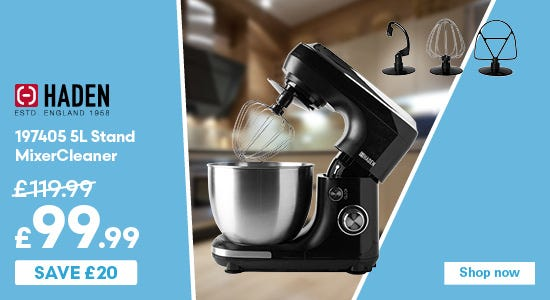 Save £20 on Haden 197405 5L Stand Mixer
