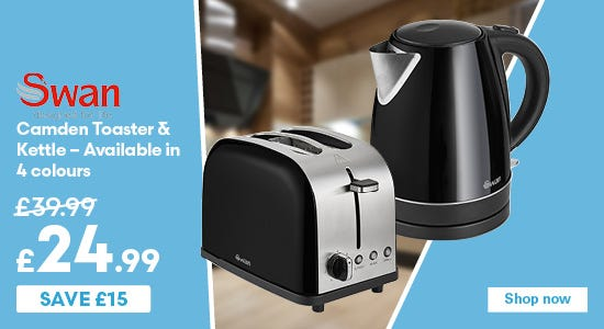 Save £15 on Swan Camden Kettles & Toasters