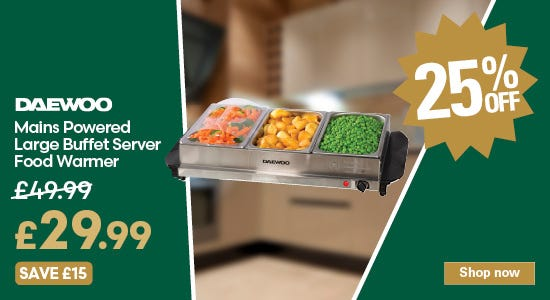 Save 25% on your daewoo buffet server