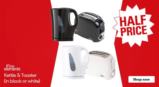 Save on Fine Elements Kettles & Toasters