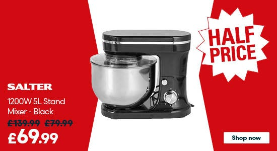 Save on Salter 1200W 5L Stand Mixer - Black