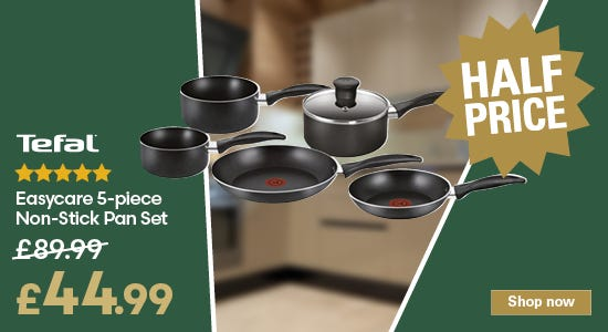 Save on your tefal easycare 5 piece pan set