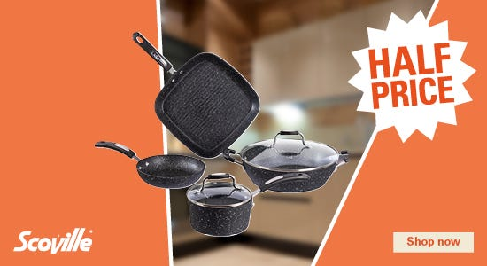 Get half price on your scoville pans!