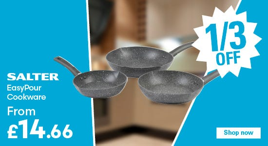 Save 1/3 on salter easypour cookware