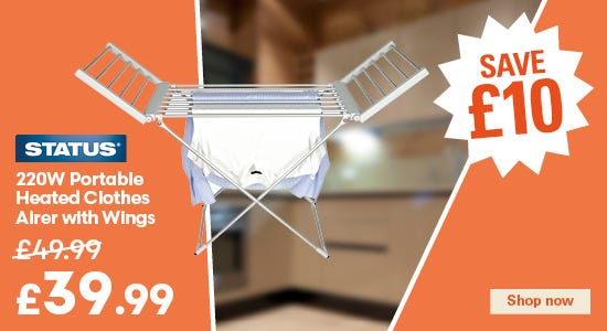 Save £10 on your status heated airer