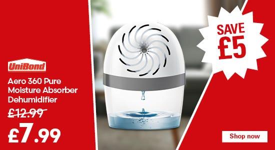 Save £5 on the unibond aero 360 dehumidifier