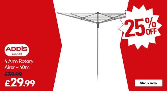 Save on the Addis 4 Arm Rotary Airer