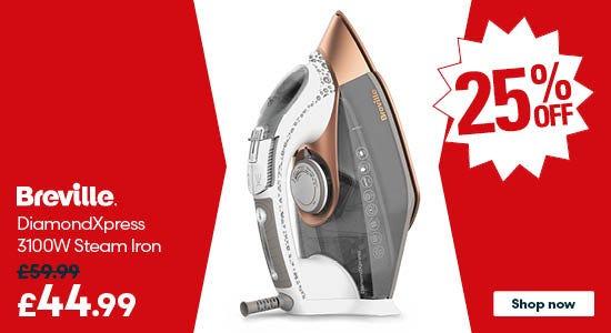 Save on the Breville VIN401 DiamondXpress 3100W Steam Iron