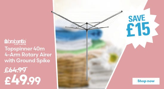 Save £15 on Brabantia Topspinner 40m 4-Arm Rotary Airer