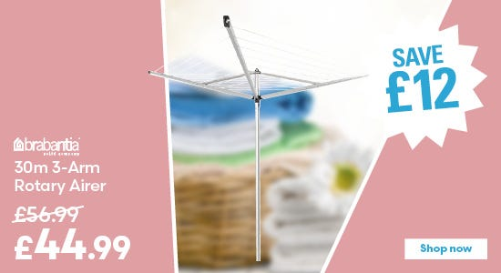 Save £12 on Brabantia Compact 30m 3-Arm Rotary Airer