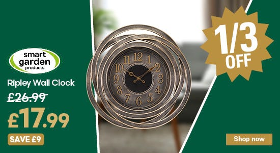 Save 1/3 on your ripley wall clock