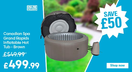 Save £50 on Canadian Spa Grand Rapids Inflatable Hot Tub