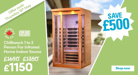 Save £500 on Canadian Spa Chilliwack 1 to 2 Person Far Infrared Home Indoor Sauna