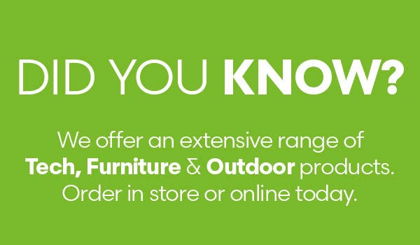 Did you know our extensive product range?