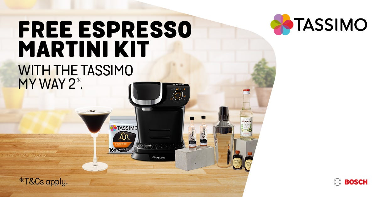 Tassimo espresso martini kit