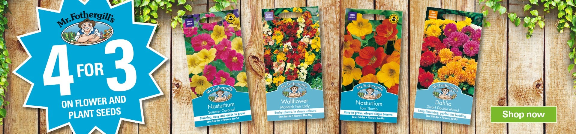 Get 4 for 3 on Seeds!