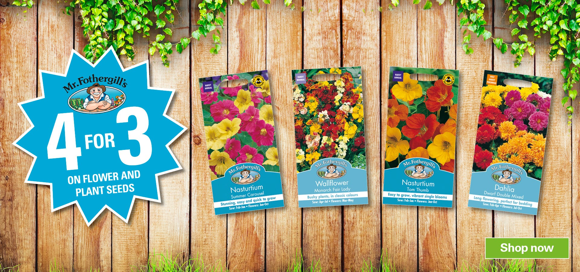 Get 4 for 3 on Seeds