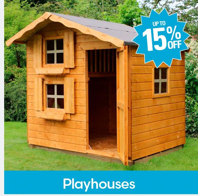 Garden Playhouses Up To 15%