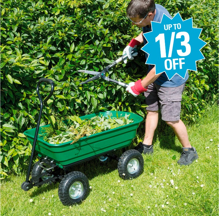 Garden Tools & Carts Up To Third Off