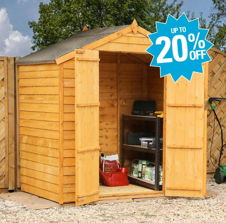 Garden Sheds Up To 20% Off