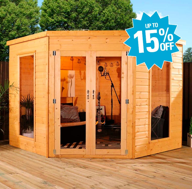 Garden Summer Houses Up To 15% Off