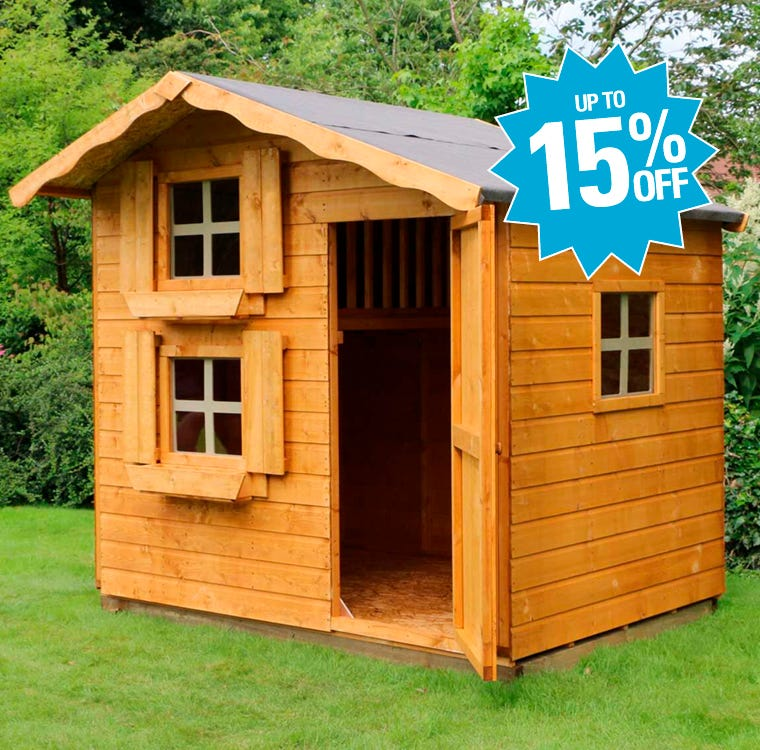 Garden Play Houses Up To 15% Off
