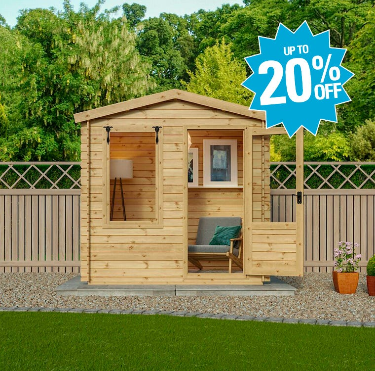 Garden Log Cabins Up To 20% Off