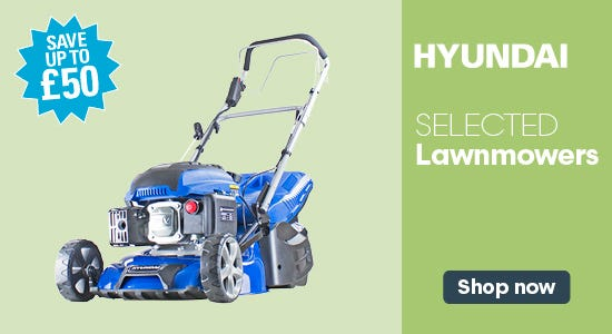 Check out our range of hyundai lawnmower offers