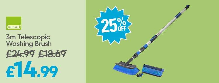 Save on Draper 3m Telescopic Washing Brush