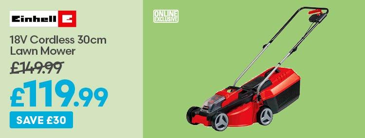 Einhell 18v Cordless 30cm Lawn Mower