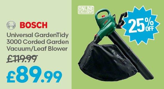 Save 25% on Bosch UniversalGardenTidy 3000 Corded Garden Vacuum/Leaf Blower