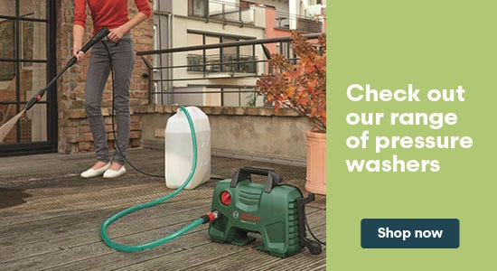 Check out our range of pressure washers