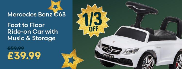 Save on Reiten Mercedes Benz C63 Foot to Floor Ride-on Car