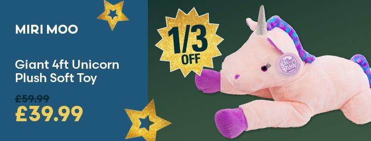 Save on Miri Moo Giant 4ft Unicorn Plush Soft Toy