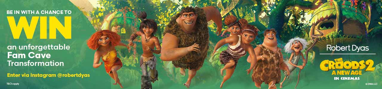 Be in with a chance to win with Croods 2