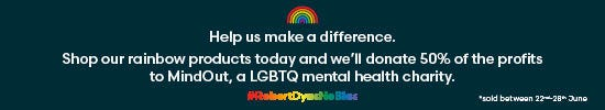 Help us make a difference shopping our rainbow products