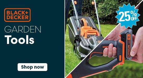 Get 25% Off Black & Decker Garden Tools!