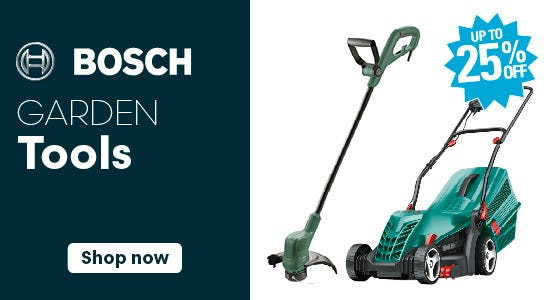 Save up to 25% on bosch garden tools